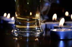 Bier met Kaarsen Royalty-vrije Stock Foto's