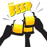 Bier met vrienden stock illustratie
