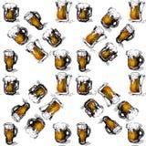 Bier naadloze achtergrond Royalty-vrije Stock Foto's