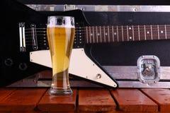 Bier op stadium Stock Foto's