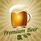 Bier-Plakat Lizenzfreies Stockfoto