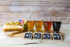 Bier-Probieren stockfoto