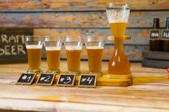 Bier-Probieren stockbild