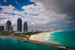 Bier`s-eye view of South Miami beach Royalty Free Stock Photography