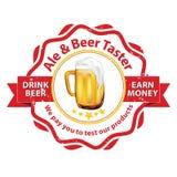 Bier-Schmeckerjobs verfügbar Stockbild
