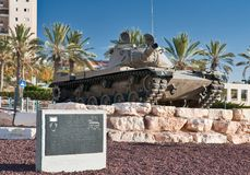 BIER-SHEVA, ISRAËL 15 JANUARI, 2010: Monument aan Israëlisch Ta Royalty-vrije Stock Foto's