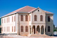 BIER-SHEVA, ISRAËL 17 SEPTEMBER, 2012: De bouw van oud stock fotografie