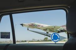 Bier-Sheva, ISRAEL Monument - militaire vechter De mening van het autoraam, 25 Juli, 2015 Royalty-vrije Stock Afbeelding