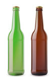 Bier twee bootles Stock Afbeelding