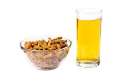 Bier und Imbisse Lizenzfreie Stockfotografie