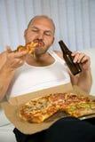 Bier- und Pizzaserie lizenzfreie stockfotografie