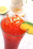 Bier-und Tomate-Saft Stockbild