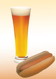 Bier und Würstchen Lizenzfreies Stockbild