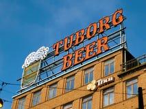 Bier unterzeichnen herein Kopenhagen Stockfotos