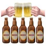 Bier vastgestelde vector royalty-vrije illustratie