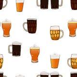 Bier vectorillustratie Achtergrond Royalty-vrije Stock Fotografie