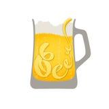 Bier - vectorillustratie van bier met het van letters voorzien Royalty-vrije Stock Foto's