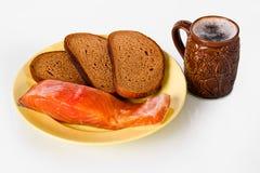 Bier, vissen en brood Stock Afbeelding