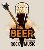 Bier voor minnaars van rock Royalty-vrije Stock Foto