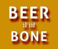 Bier zum Knochen Lizenzfreie Stockfotos