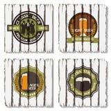 Bierabzeichen und -kennsätze stock abbildung