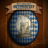 Bierachtergrond Oktoberfest, Royalty-vrije Stock Afbeelding