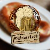 Bierachtergrond Oktoberfest, Stock Foto