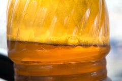 Bierbellen in flessenhals Royalty-vrije Stock Fotografie