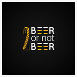 Bierconcept Logo Design Background Royalty-vrije Stock Afbeelding