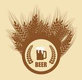 Bierconceptontwerp Stock Afbeeldingen