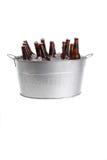 Bieren in een emmer Royalty-vrije Stock Foto's