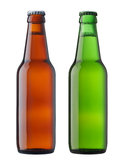 Bieren in fles Royalty-vrije Stock Foto's