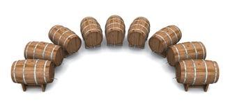 Bierfässer rund und runde 02 Lizenzfreies Stockfoto