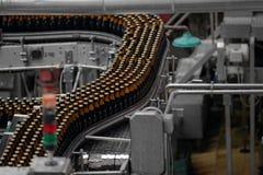 Bierfabrikinnenraum Lizenzfreies Stockfoto