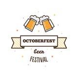 Bierfestival Octoberfest Vectorillustratie Royalty-vrije Stock Fotografie