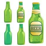 Bierflaschesatz Stockfotos