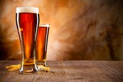 Biergetränke Stockfoto