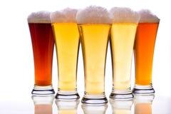 Biergläser Lizenzfreie Stockfotos