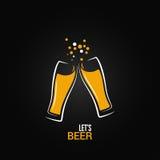 Bierglas-Getränkspritzen-Designhintergrund lizenzfreie abbildung