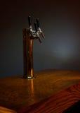 Bierhahnkontrollturm Stockfoto