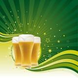 Bierhintergrund lizenzfreie abbildung