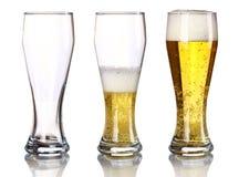 Bierhintergrund Stockfotos