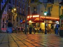 Bierhuis in Quartier-Latijn, Parijs - koffiecultuur royalty-vrije stock afbeeldingen