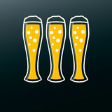 Bierikone im modernen flachen Design Alkohol-Getränk Lizenzfreies Stockfoto