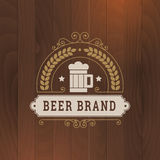 Bierikonengeschäfts-Aufkleberdesign Stockfotos