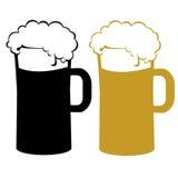 Bierillustration Stockfoto