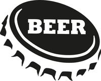 Bierkappe mit Bierwort vektor abbildung
