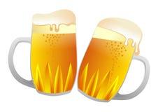 Bierkrüge Stockbild