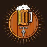 Bierlogo Lizenzfreie Stockbilder