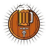 Bierlogo Stockfoto